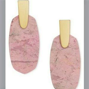 Kendra Scott Light Gold/ Pink Aragon Earrings NWT